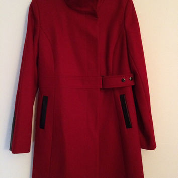 Via Spiga Wool Blend Walker Coat