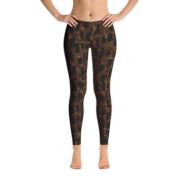Dark Brown Animal Leggings