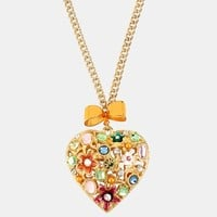 Betsey Johnson 'Fairyland' Heart Pendant Necklace | Nordstrom