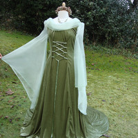 Arwen Coronation Fantasy gown  lotr  renaissance medieval pagan Celtic handfasting gown / dress 8 to 14