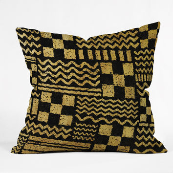 Nick Nelson Gold Fuse Throw Pillow