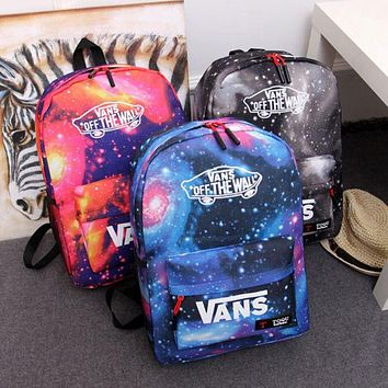 LMFON VANS : Galaxy Casual Sport Laptop Bag Shoulder School Bag Backpack