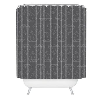 Wesley Bird Diamond Print 1 Shower Curtain