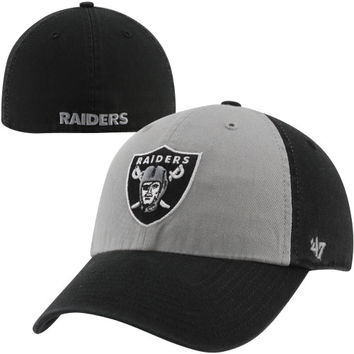 47 Brand Oakland Raiders Franchise Sophomore Fitted Hat - Black/Silver