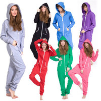 Fedex free shipping One piece jumpsuit adult jumpsuit fleece jump in jumpsuit