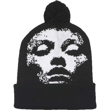 Converge Men's Jane Done Knit Face Beanie Beanie Black