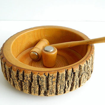 Tree Bark Nut Bowl