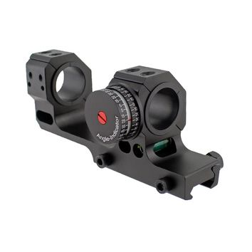 Tactical 24.5mm 30mm Dual Ring Scope Mount with High Accuracy Angel Indicator and Bubble Level for Picatinny Rail