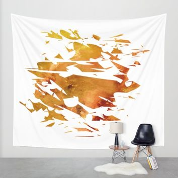 Abstract Acrylic Painting Broken Glass THE CREATION Wall Tapestry by Saribelle Inspirational Art | Society6