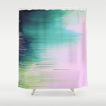 Soft Spoken Shower Curtain by Ducky B