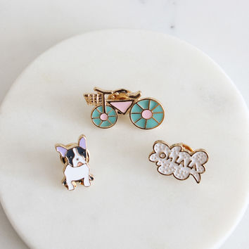 Bicycle Pin Set