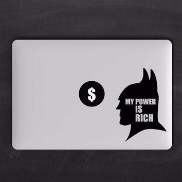Batman Dark Knight gift Christmas Batman Humor Quote Laptop Sticker for Macbook Pro Decal Air Retina 11 12 13 15 inch Vinyl Mac Mi Surface Book Skin Decor Sticker AT_71_6