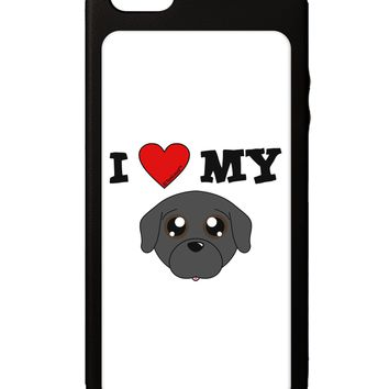 I Heart My - Cute Pug Dog - Black iPhone 5C Grip Case  by TooLoud