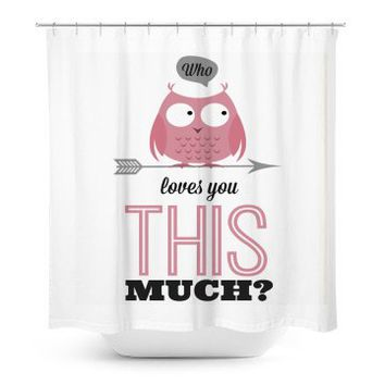 Love Owl Shower Curtain