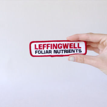 Farm Logo Patch - Leffingwell Foliar Nutrients - Embroidered Cloth - Hat Jacket Shoulder - Farmer Farming - Agriculture