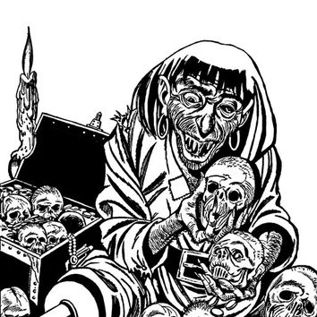 zombie pirate adult coloring page horror comics digital graphics image download colouring printable crafts line art
