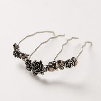 Rose Row Comb by Anthropologie Silver One Size Hair