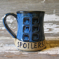 Spoilers! - Pottery Mug - River's Journal - Handmade Fan Art -  Doctor Who Inspired