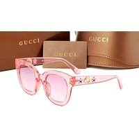 GUCCI Fashion Women Men Star Pattern Sun Shades Eyeglasses Glasses Sunglasses Pink N-ANMYJ-BCYJ