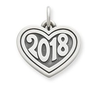 "Heart with ""2018"" Charm 