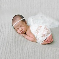 White Lace Baby Wrap 3ft x 5ft - CPW301