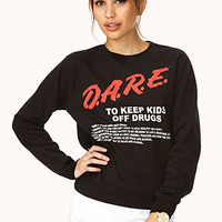 FOREVER 21 Classic D.A.R.E. Sweatshirt