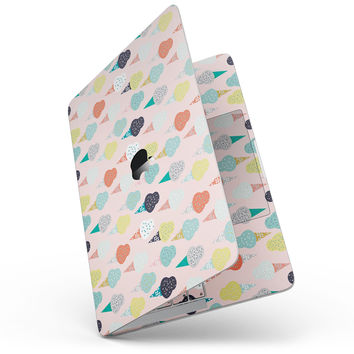 "The All Over Pink Ice Cream Cone Pattern - 13"" MacBook Pro without Touch Bar Skin Kit"