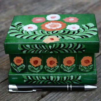 Puzzle box Mother's day gift secret compartment box wood puzzel doosje brain teaser painted wooden jewelry box hand painted decorated box