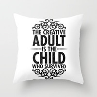 Creative Throw Pillow by Matthew Bartlett | Society6