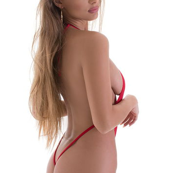 Vegas Micro Monokini G String in ThinSKINZ Red