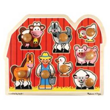 Melissa & Doug® Farm Animals Jumbo Knob Wooden Puzzle 8pc