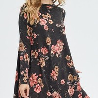 Chattanooga Floral Print Dress - Dark Olive