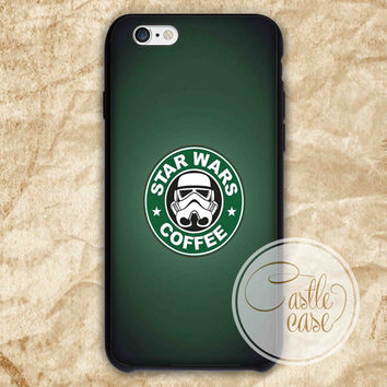 star wars coffee iPhone 4/4S, 5/5S, 5C Series Hard Plastic Case