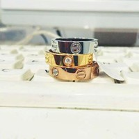 Cartier New Fashion Mountain Rings for Women and Men Birthday Gift