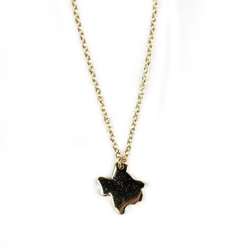 Texas Necklace in Gold by Country Club Prep