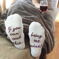 If You Can Read This....Women's No Show Socks Printed with Text on Sole, Sold by the Pair
