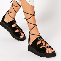 ASOS | ASOS FLATTEN Suede Lace Up Sandals at ASOS