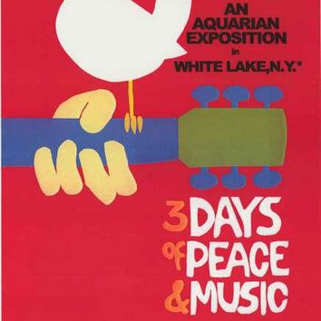 Woodstock Peace and Music Poster 24x36