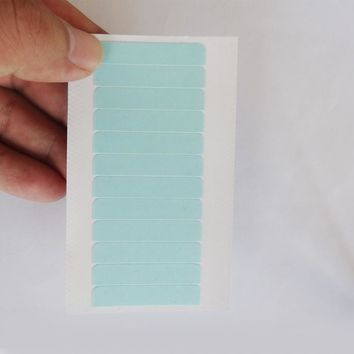 1 sheets 12 pcs 4cm*0.8cm CPAM SUPER HAIR TAPE Adhesive Double Side Tape for remy human hair, tools for hair extension