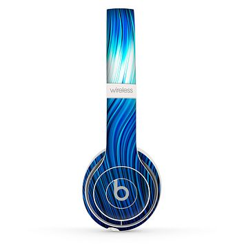 The Blue Vector Swirly HD Strands Skin Set for the Beats by Dre Solo 2 Wireless Headphones