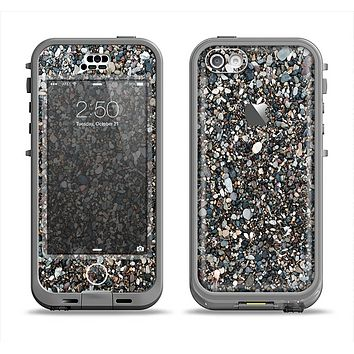The Small Dark Pebbles Apple iPhone 5c LifeProof Nuud Case Skin Set