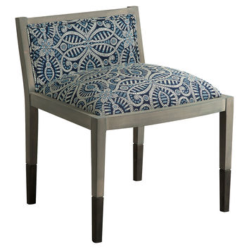 Gabriel Accent Chair, Blue/Cream, Accent & Occasional Chairs