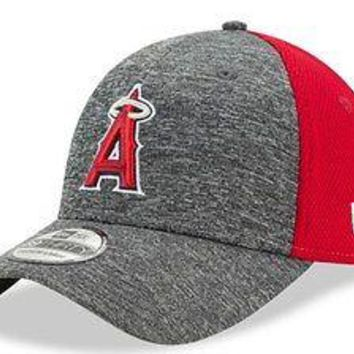 Los Angeles Angels LA New Era 39THIRTY Shadow Blocker Stretch Flex Cap Hat 3930