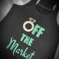 Bachelorette party - engagement announcement shirt or tank