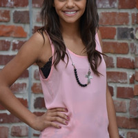 Favorite Scoop Neck Tank - Pink