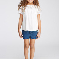 Lace-Paneled Blouse (Kids)