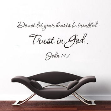 """Trust In God"" PVC Removable Wall Sticker Decor For bedroom living Rooms SM6"
