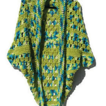 Cocoon Style Cardigan Crochet Lightweight Handmade  Ready to Ship