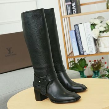 Louis Vuitton Lv  Star Trail Monogram Silhouette Ankle Boot Zipper Lace-up Ankle high heels shoes Flats Best Quality
