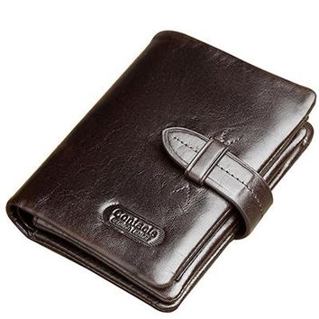 HOT genuine leather Men Wallets Brand High Quality Designer wallets with coin pocket purses